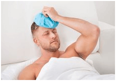 ice pack on head